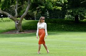 melania trump is the epitome of style and independence during