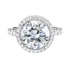 5 engagement ring 5 carat brilliant cut halo pave engagement ring