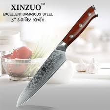 couteaux de cuisine professionnels xinzuo 5 pouces couteau japonais damas couteau de cuisine en