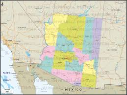 Arizona Maps by Geoatlas Us States Arizona Map City Illustrator Fully