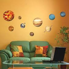 solar system wall decals roselawnlutheran solar system planets wall sticker