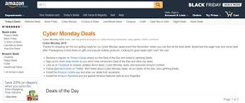 amazon black friday deals web site the best of this year u0027s black friday cyber monday marketing blog