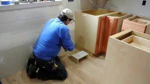 Does Flooring Go Under Cabinets Toe Kick Supply Register Youtube