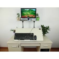 Adjustable Height Computer Desk Workstation by Heavy Duty Height Adjustable Standing Desk Converter Stand Up