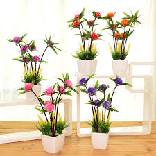 flowers decoration at home 1pcs lot simulation pine plant potted indoor green plant small