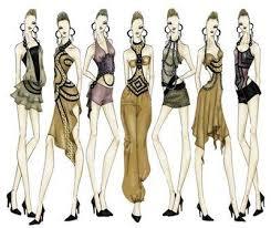 fashion sketch blank model disco fashion