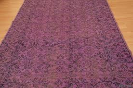 k0004691 over dyed turkish vintage rug overdyed vintage rugs