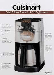 Burr Coffee Grinder Bed Bath And Beyond Cuisinart Grind And Brew Thermal 10 Cup Automatic Coffeemaker