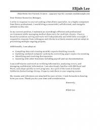 Data Entry Resume Sample by Leading Professional Administrator Data Entry Cover Letter