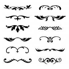 ornamental borders collection vector free