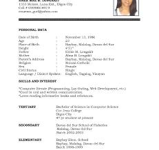 word template for resume resume sles doc format for freshers sle cv template