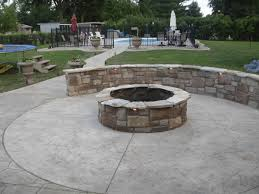 Backyard Stamped Concrete Ideas Decor U0026 Tips Backyard Design With Concrete Patio Ideas And Stone