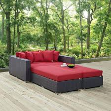 outdoor bed frame convene 4 piece outdoor patio daybed outdoor
