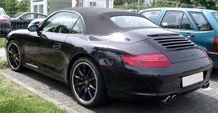 porsche 911 convertible 2005 file porsche 911 carrera s cabrio rear 20080624 jpg wikimedia