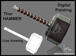 mayank mehta thor hammer digital painting