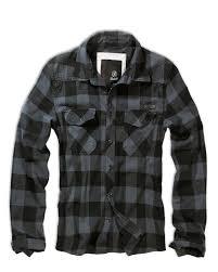 brandit check shirt black grey checkered my style pinterest