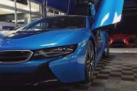 Bmw I8 Blue - coast customs boss drives a beautiful protonic blue bmw i8