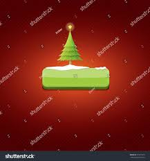 christmas vector green glossy button christmas stock vector