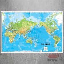 World Map Wall Poster by Online Get Cheap Large Print Maps Aliexpress Com Alibaba Group