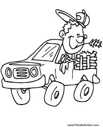 dodge truck coloring pages cartoonish truck coloring page free coloring sheet