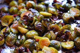 roasted brussels sprouts and bacon nom nom paleo