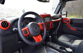 jeep interior 2017 red interior cover trim kit for 4 door jeep wrangler jk 2011 2017