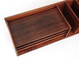 boitier bureau boitier de rangement ou organiseur de bureau en palisandre de