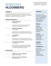 Free One Page Resume Template Free One Page Resume Won Disaster Gq