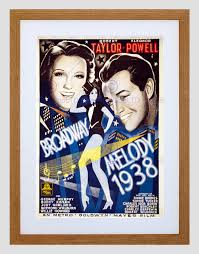 movie film broadway melody 1938 dance home decor framed art print
