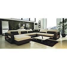 amazon com t35 white bonded leather sectional sofa set with