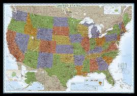 us states detailed map buy united states decorator map