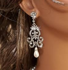 Vintage Pearl Chandelier Earrings Bridal Jewelry Nicola Collection U2013 Olini Bridal