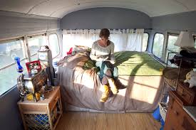 bus living cozy confines for 300 square feet u2013 collective