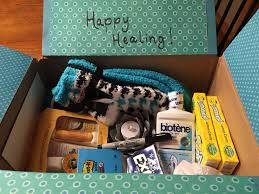 what to put in a sick care package care package for a friend in cancer treatment includes biotene