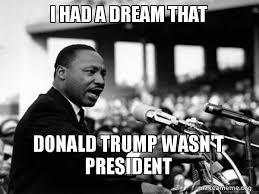 Dream Meme - i had a dream that donald trump wasn t president i have a dream