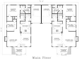 Duplex Plans With Garage Plan 1462d Duplex Ranch First Floor Plan Home Plans