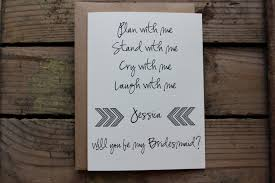will you be my bridesmaid poem bridesmaid matron of honor wedding party card with