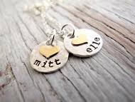 Kids Name Necklaces Gold And Silver Mother U0027s Necklace Personalized Jewelry 2 Kids