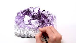 how to paint an amethyst crystal anna mason art