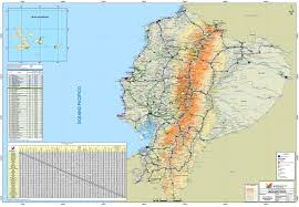 Driving Map Of America by Large Scale Road Map Of Ecuador With All Cities Ecuador South