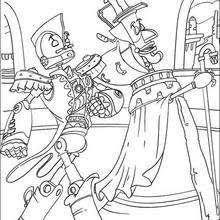 warrior robot coloring pages hellokids