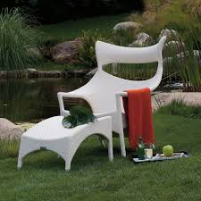 Furniture For Outdoors by Exterior Design Charming Rattan Chair And Ottoman In White By