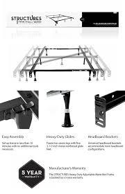 Full Set Bed Frame by Structures Adjustable Metal Bed Frame St5033gl The Home Depot