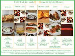 south beach diet menu tidal treasures