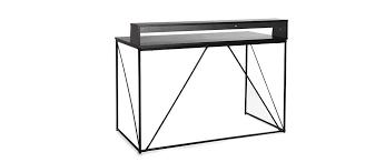bureau metal noir bureau design métal gris et noir walt miliboo