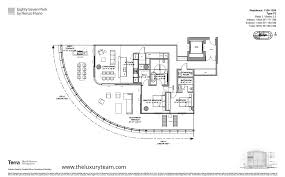 Parkland Residences Floor Plan by Live At Eighty Seven Park In Miami Beach
