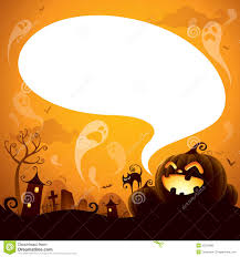 halloween jack o lantern with speech bubble royalty free stock