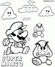goomba coloring coloring