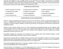 latest resume format for hr executive roles hr executive job description template resume sles human