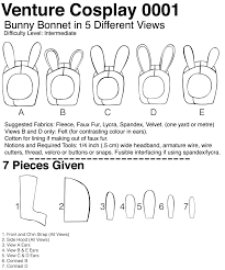 0001 ultimate bunny hat hood pdf cosplay sewing pattern and
